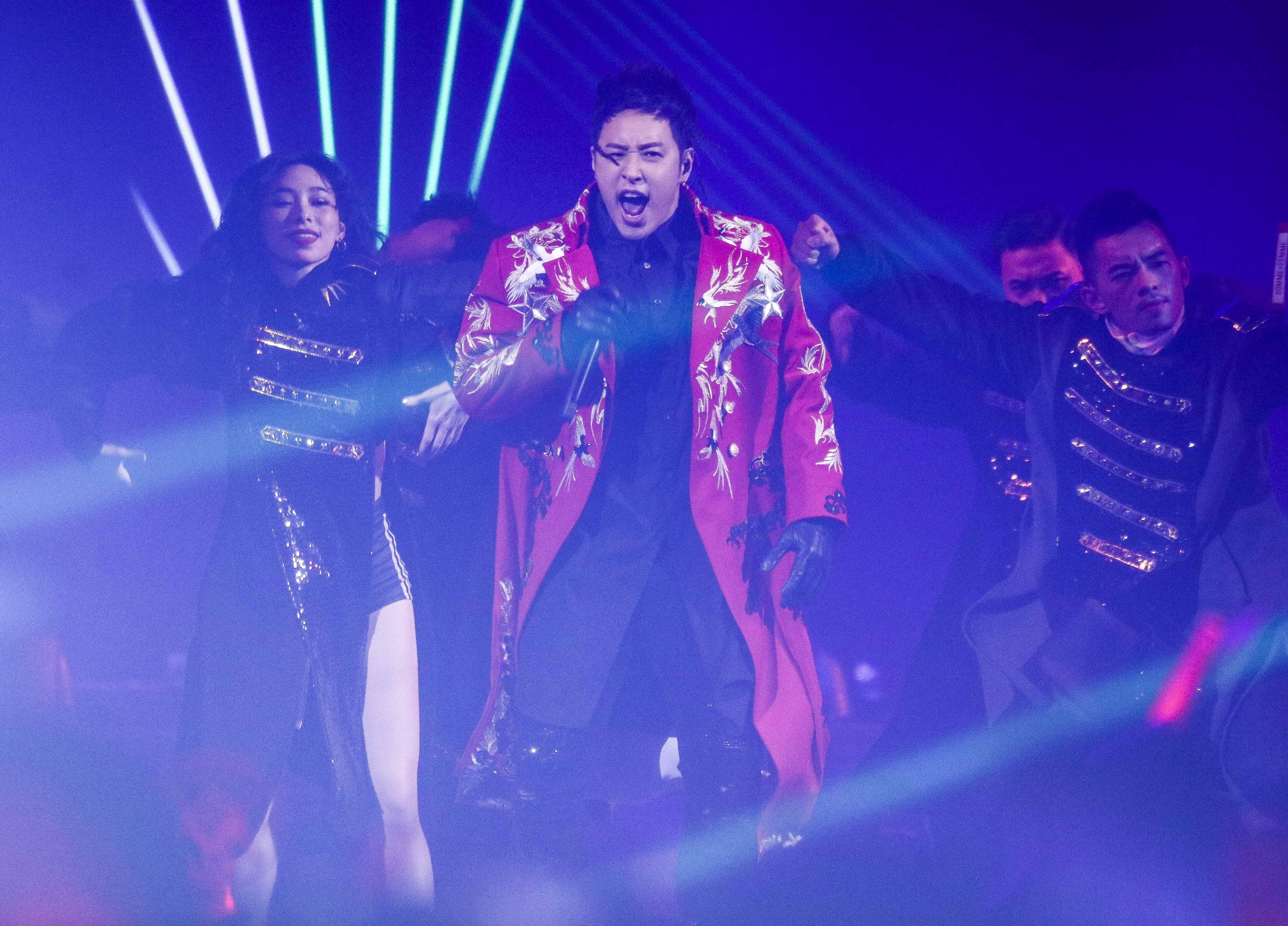 潘瑋柏Alpha創使者世界巡迴演唱會2019台北站熱鬧開場。(記者林士傑/攝影)