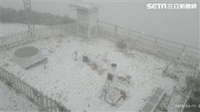 玉山再下3月雪/20190311 圖翻攝畫面