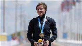 美國23歲女子自行車好手凱利.凱特林(Kelly Catlin)(圖/美聯社/達志影像)