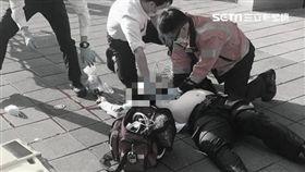 台北,光華商場,墜樓,輕生,醫師,職場壓力(圖/讀者提供)