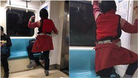 捷運,大媽,運動,做操(圖/翻攝自爆怨公社)