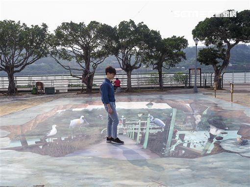 北投關渡宮,媽祖廟,北市水利處,3D彩繪圖案,打卡,關渡碼頭,關渡水岸公園,北投