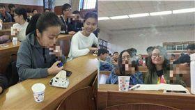(圖/翻攝自微博)中國,雲南,上課,抽菸