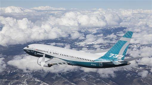 波音新機  完成首次試飛737 MAX家族最新機種波音737 MAX 7完成首度試飛,這款新機將在2019年開始撥交給訂戶。(波音公司提供)中央社記者曹宇帆洛杉磯傳真  107年3月17日
