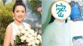 章子怡23歲舊照。(圖/微博)
