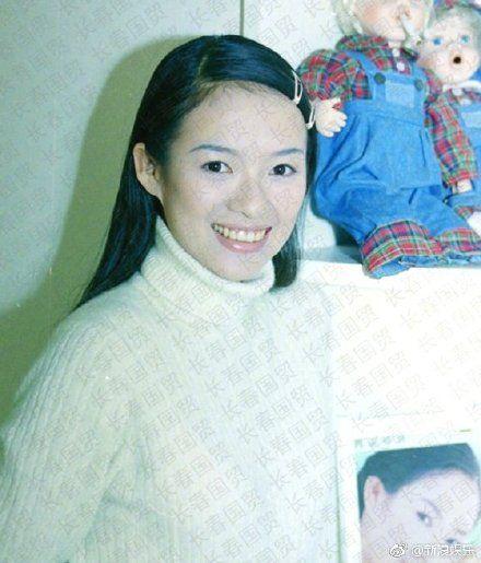 章子怡23歲舊照。(圖/新浪娛樂微博)