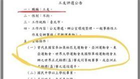 ▲中央銀行刊出徵求工友公告引發熱議。(圖/翻攝自PTT)