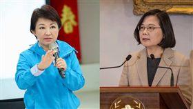 台中市長盧秀燕、總統蔡英文/翻攝自臉書
