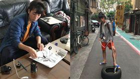 日本版畫家野口龍平「0元旅行」挨轟。(圖/翻攝自のぐ / タイヤひっぱり Twitter)