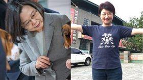 盧秀燕,蔡英文,台中,空汙,交管 圖/蔡英文臉書,盧秀燕臉書