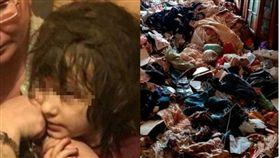 俄羅斯,蟑螂,垃圾,禁錮,女童,環境,防護衣,厭食症 圖/翻攝自YouTube