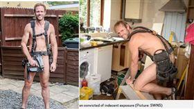 英國一名43歲男子建納(Robert Jenner),堅持自己的「裸體主義」,一天24小時都脫光光,吃上不少與猥褻相關的官司。但建納透過律師強調,他只是在宣揚自己的理念,沒有任何意圖。(圖/翻攝自metro.co.uk)