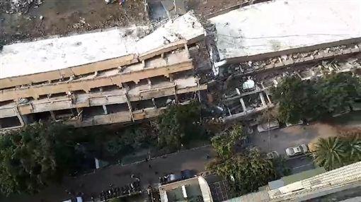 七賢國中舊教室坍塌 圖/翻攝畫面