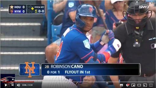 ▲坎諾(Robinson Cano)敲出2分砲打下球隊唯一分數。(圖/翻攝自All Sports Highlights)