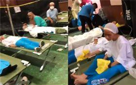 馬來西亞,化學品洩漏,中毒(圖/翻攝自推特)
