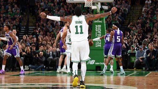 NBA/贏球!厄文5年來首獲大三元NBA,波士頓塞爾提克,Kyrie Irving翻攝自推特