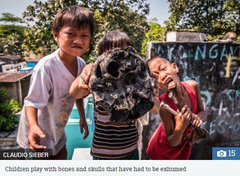 菲律賓,馬尼拉北墳場,窮人,公墓,棺木(圖/翻攝自太陽報)