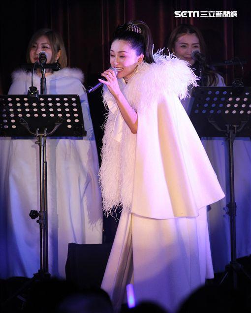 酒井法子來台頂樂秀開唱。(圖/記者邱榮吉攝影)