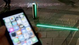 LED,紅綠燈,號誌,以色列,地面,低頭族,手機,交通燈 圖/翻攝自推特 https://goo.gl/2kpPXa