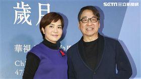 華視47週年台慶暨台慶專刊發表會李艷秋與李濤。(記者林士傑/攝影)