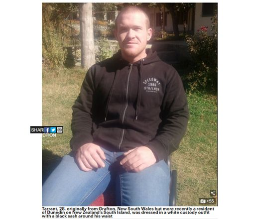 紐西蘭槍手抓到!出庭受審面無表情 未要求保釋(圖/翻攝自dailymail)