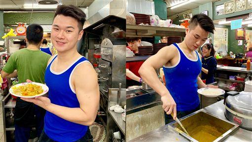 基隆老店,小吃,簡家蚵仔煎,帥哥,猛男,小鮮肉(記者郭奕均攝影)