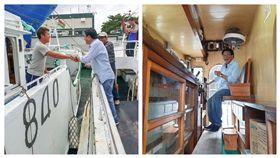 屏東縣長潘孟安到模里西斯海外探視屏東漁民。(圖/取自臉書)