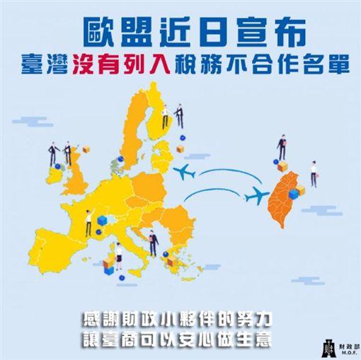 蔡英文任內國貿大躍進!台灣努力歐盟肯定 脫身租稅灰名單圖翻攝自財政部臉書
