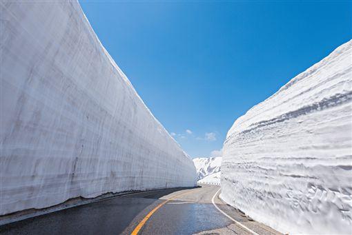 ▲立山黑部春季最大看點─巨大的雪牆(圖/五福旅遊)