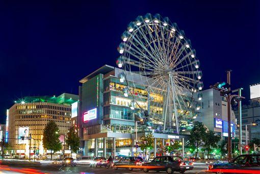 ▲商場「Sunshine Sakae」外的摩天輪是名古屋榮町的地標(圖/shutterstock.com)
