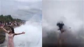 印尼,海浪,拍照,巨浪,峇厘島,捲入,襲擊,吞沒, 圖/翻攝自臉書https://goo.gl/FhnPyi