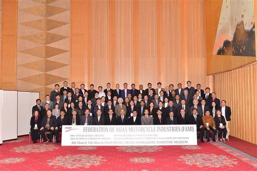 ▲光陽機車執行長柯俊斌帶領台灣業者參加FAMI(亞洲摩托車工業聯合會)會議。(圖/KYMCO提供)