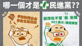 NCC,詹婷怡,言論自由,假新聞,國民黨,民進黨 圖/中國國民黨臉書