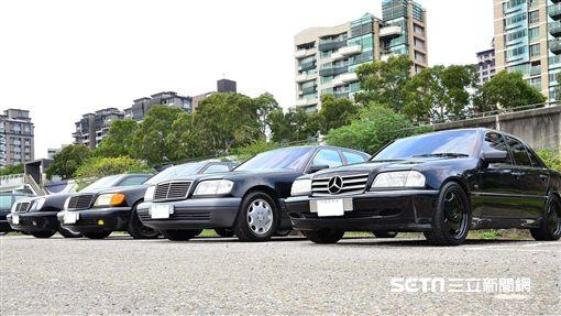 ▲Mercedes-Benz 90年代全家族。(圖/鍾釗榛攝影)