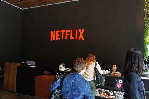 Netflix洛杉磯總部辦活動網路電視串流服務Netflix於18日在美國洛杉磯總部舉辦Labs Days年度活動,說明最新內容與技術。圖為總部其中一座辦公大樓接待處。中央社記者吳家豪洛杉磯攝  108年3月19日
