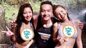 小鐘與徐瑋吟以及來賓辜莞允一同到帛琉出外景。(圖/翻攝自辜莞允臉書)