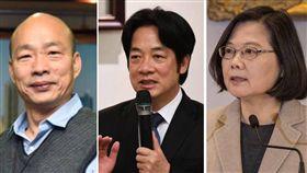 韓國瑜、蔡英文、賴清德。(合成圖/翻攝自臉書)