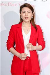 知識型網紅理科太太陳映彤出席珠寶代言活動。(記者林士傑/攝影)
