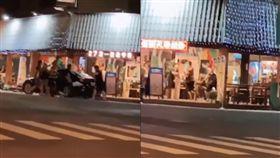 新堀江商圈深夜街頭大亂鬥。(圖/翻攝黑色豪門企業臉書)