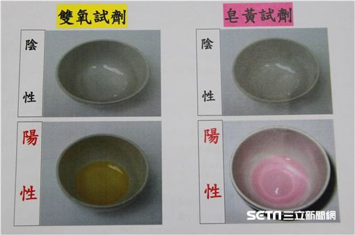 台北市食安檢驗驚喜包「過氧化氫、皂黃檢測雙試劑」免費送。(圖/台北市衛生局提供)