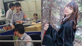 台中南區勤工派出所女警楊舒婷,美到女網友也讚嘆。(圖/翻攝爆廢公社、臉書)