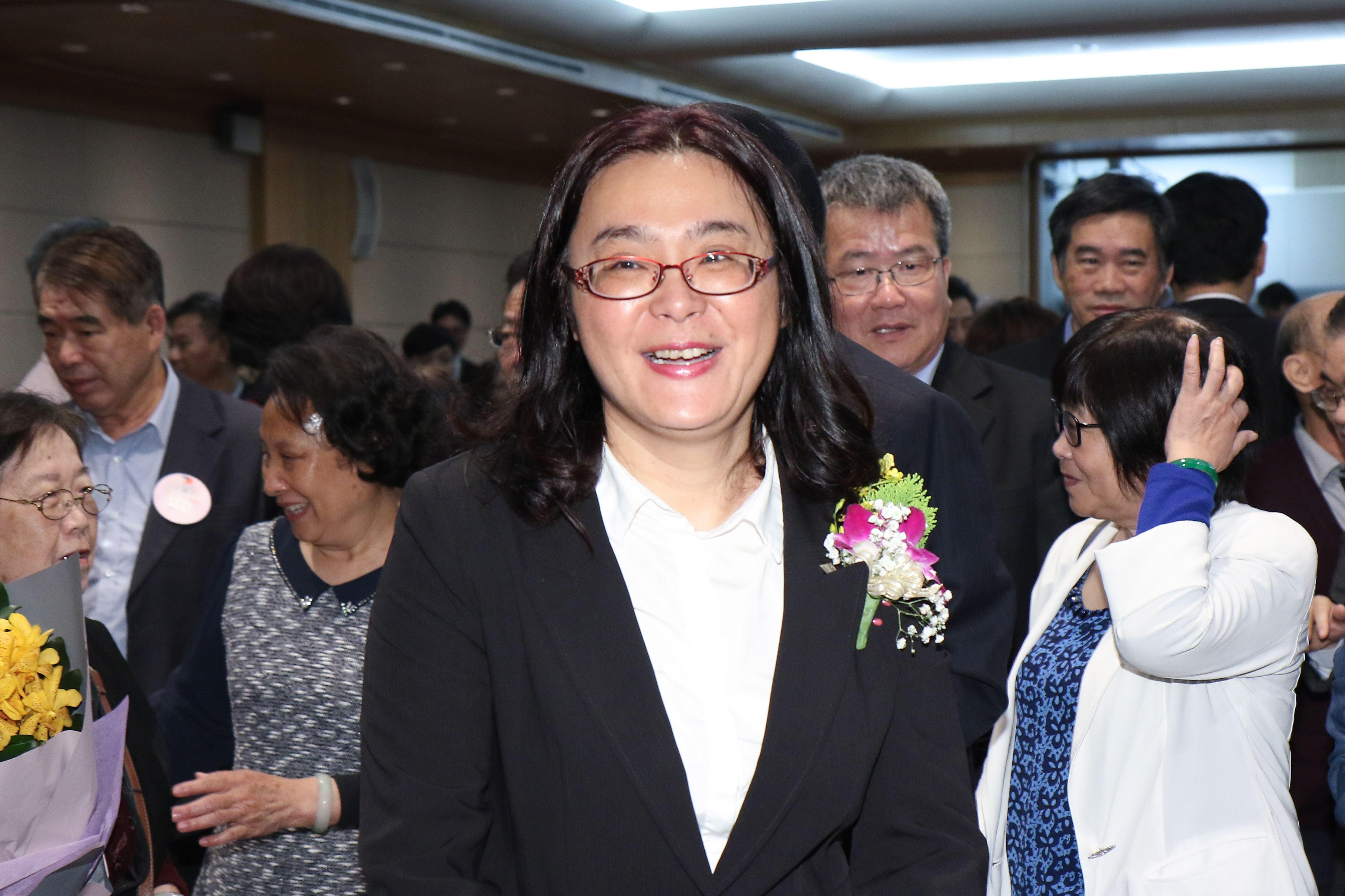 立委補選宣誓就職典禮,陳玉珍委員。(記者林士傑/攝影)