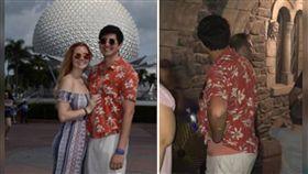 美國一名女子布萊克(Brittany Blake)與男友圖爾科(Regory Turco)日前到迪士尼樂園遊玩,沒想到2人拍下親吻照後,男友突然失蹤,布萊克只好到迪士尼臉書社團PO文求助,所幸在閉館前15分鐘,被眼尖的網友找到了!(圖/翻攝自臉書)