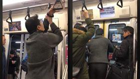 地鐵坐過站,男手卡住下不了車崩潰。(圖/翻攝自爆笑公社)