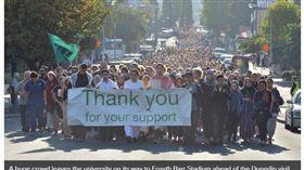(圖/翻攝自Otago Daily Times)紐西蘭,清真寺,恐攻,遊行,致敬