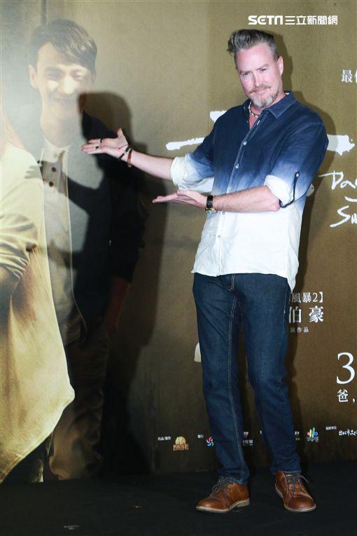 夏克立出席《老大人》首映。(圖/記者林士傑攝影)