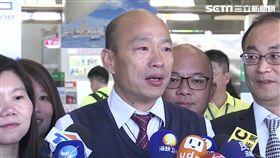 高雄市長韓國瑜抵達小港機場,將前往香港、澳門、中國深圳及廈門
