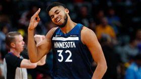 NBA/狼王唐斯!隊史總分超越愛神 NBA,明尼蘇達灰狼,Karl-Anthony Towns,Kevin Love 翻攝自推特