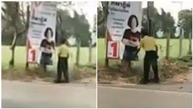 候選人看板太正 黃衣伯興奮到當場自慰(圖/翻攝自YouTube)