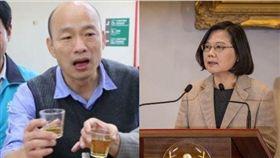 韓國瑜,蔡英文,發大財,總統 圖/高市府提供,資料照